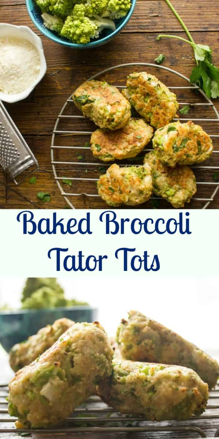 Baked Broccoli Tater Tots, fast, easy and healthy and of course delicious way to eat your veggies. A low carb family will love side dish recipe.|anitalianinmykitchen.com