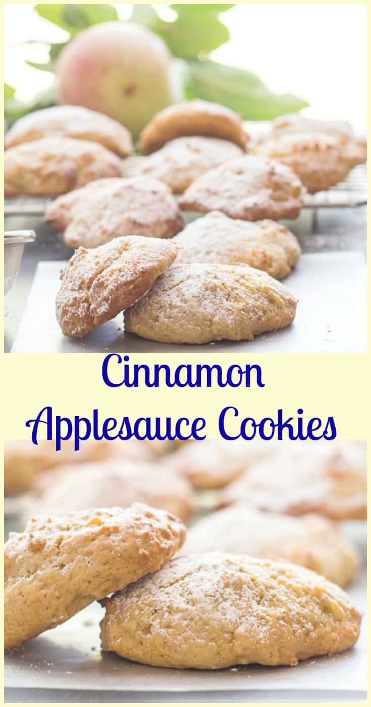 Cinnamon Applesauce Cookies, fast, easy and what a delicious cookie recipe. Moist almost cake like kid friendly cookie snack. Enjoy.|anitalianinmykitchen.com