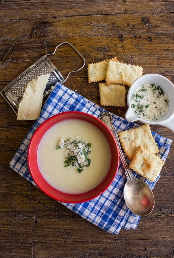 Creamy Potato Soup and Homemade Crackers