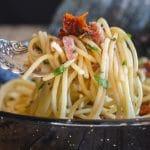 a fork full of pasta