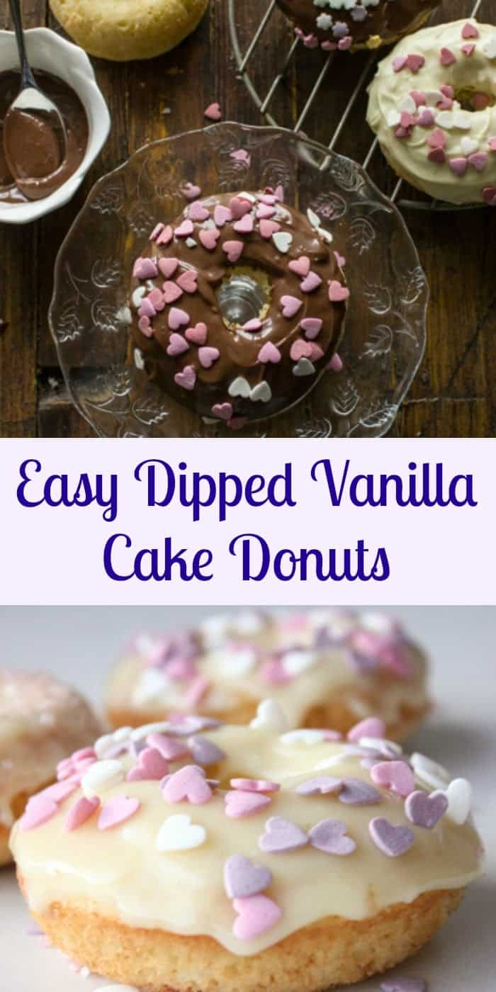 Chocolate Dipped Vanilla Baked Donuts An Italian In My