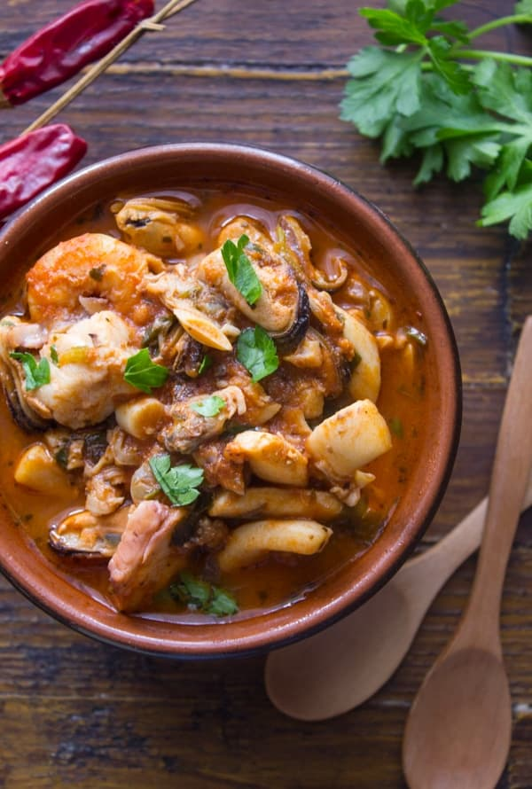 Easy italian fish soup an italian in my kitchen for Fish soup cod
