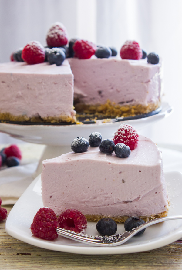 how to make cheesecake pie topping from frozen berries