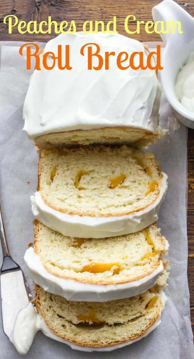 Peaches and Cream Roll Bread, is a delicious breakfast, snack or dessert yeast bread, made with sliced peaches and cream cheese. Now this you have to try.