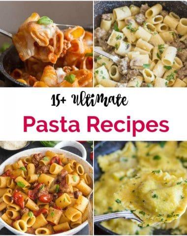 4 different pasta recipes
