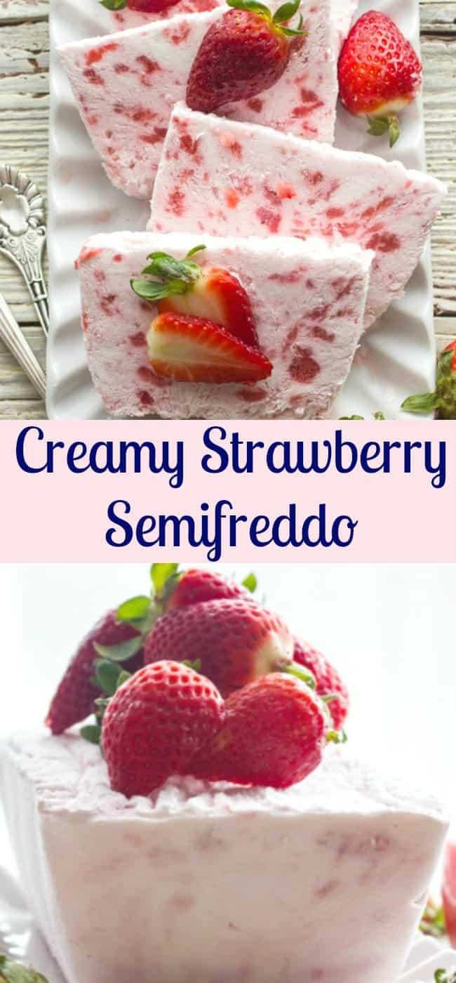 Strawberries And Cream Semifreddo Recipe — Dishmaps