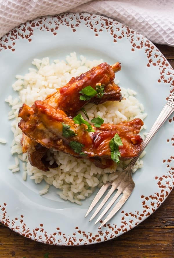 Mom's Spare Ribs To Go, an easy oven baked Pork Recipe, just 5 ingredients makes this the best Spare Ribs Recipe you will ever taste.