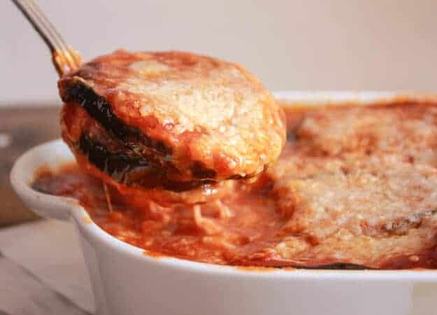 a spoonful of eggplant parmesan recipe