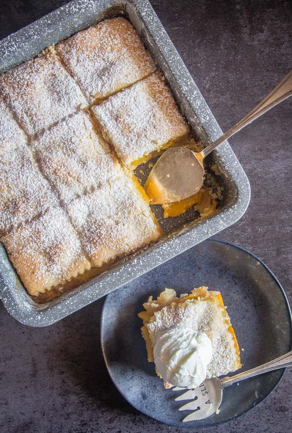 Italian Crostata Bars, an Italian pastry crust filled with a tasty peach filling, an easy fresh or canned Peach recipe.