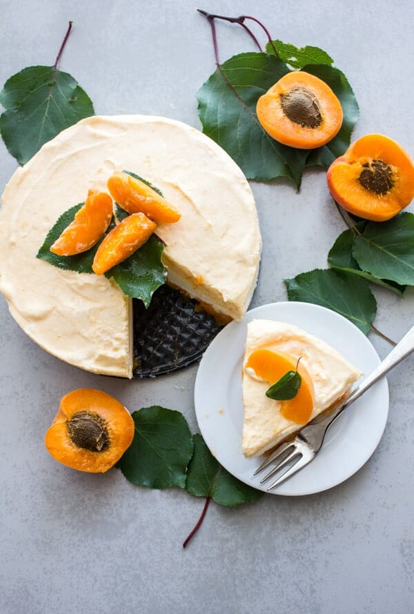 Fresh Apricot Double Layer Cream Dessert, an easy fresh apricot dessert recipe, a healthy refreshing summer treat.