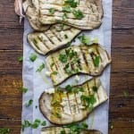 The Best and Easiest Grilled Eggplant, a fast and easy eggplant appetizer recipe, tossed with fresh gariic, parsley & tomatoes. Amazing!