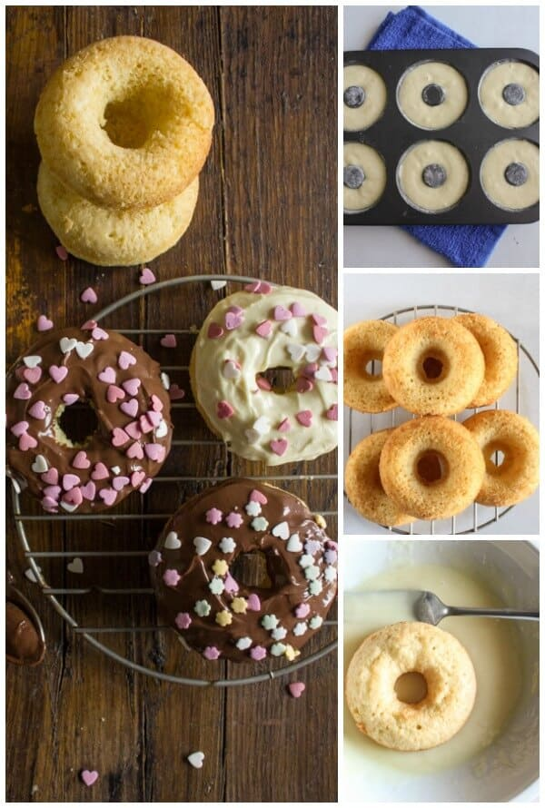 Easy Dipped Vanilla Cake Donuts, a fast easy delicious recipe. Dipping in some Chocolate or Nutella makes them extra yummy.