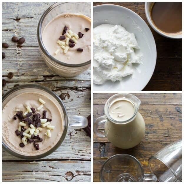 An easy Baileys Homemade cold, chocolatey, creamy Iced Coffee. Make it as a dessert drink or as a perfect summertime cool down refreshment.