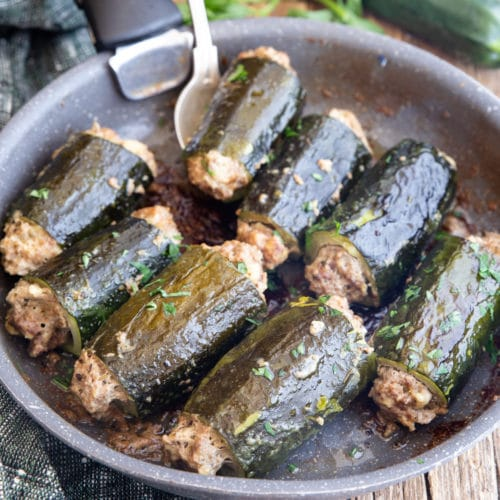 Stuffed Zucchini With Meat Italian Style An Italian In My Kitchen
