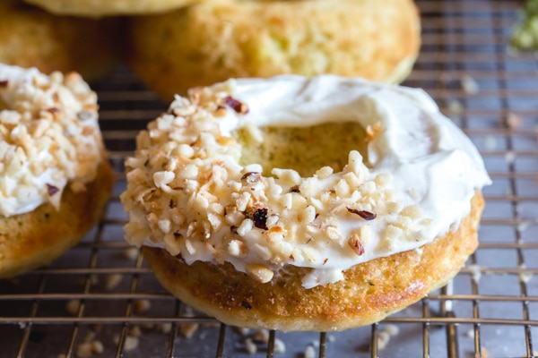 upclose zucchini baked donut