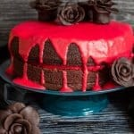 A Delicious, Decadent, Easy Double Chocolate Halloween Cake, Chocolate Butter Cream filling and Ganache makes this cake the Ultimate Dessert.