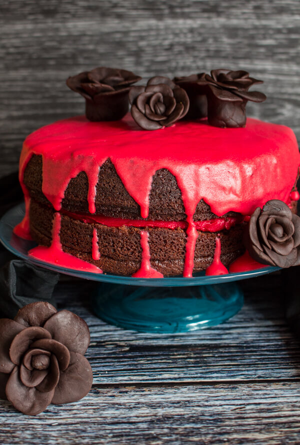 Bloody Good Double Chocolate Halloween Cake