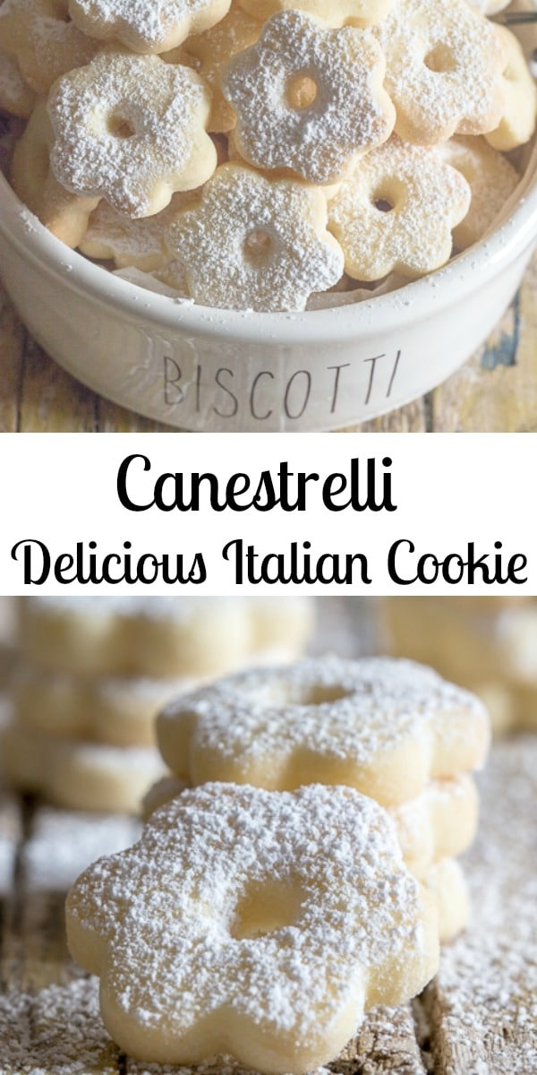 Canestrelli a wonderfully delicious Italian Cookie, an almost shortbread type cookie but with a crunch, fast and easy.  The perfect afternoon tea cookie. #cookies #Italiancookies #canestrelli #easycookierecipe #shortbread #crumblycookie