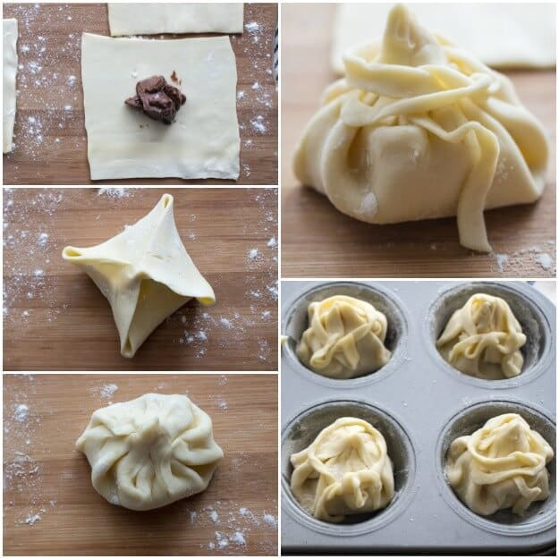 Easy Nutella Puff Pastry Balls, a fast and easy 2 ingredient Dessert idea. A simple pastry filled with Nutella and baked to yummy perfection.