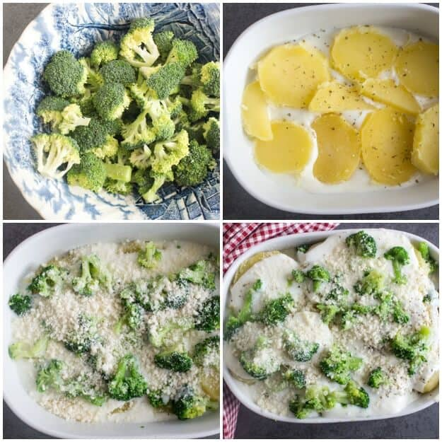 Comfort Food at it's best, Creamy Broccoli Potato Casserole a delicious Side Dish or Family meal recipe. The Perfect anytime Comfort Bake.