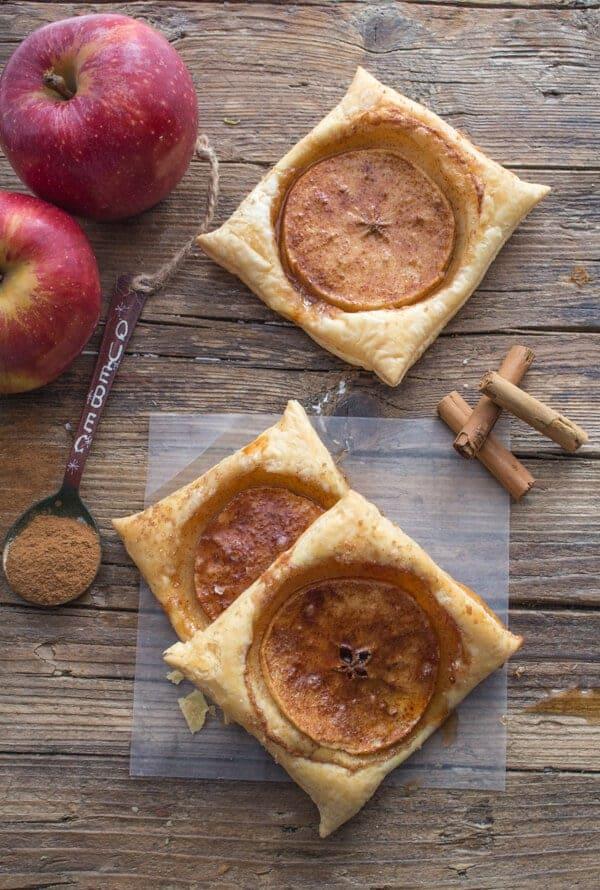 Cinnamon Apple Puff Pastry Squares