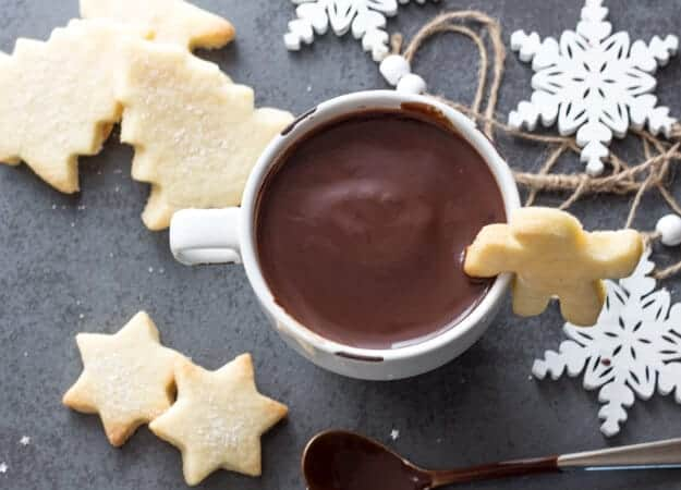 Thick Italian hot Chocolate,a mug full of creamy deliciously Hot Chocolate, made with real chocolate and milk, the ultimate Comfort Food.