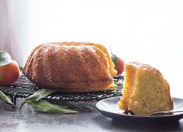 Italian Glazed Mandarin Orange Almond Cake, an easy Breakfast or Snack Cake, fresh Mandarins and a simple glaze is all you need. Delicious.