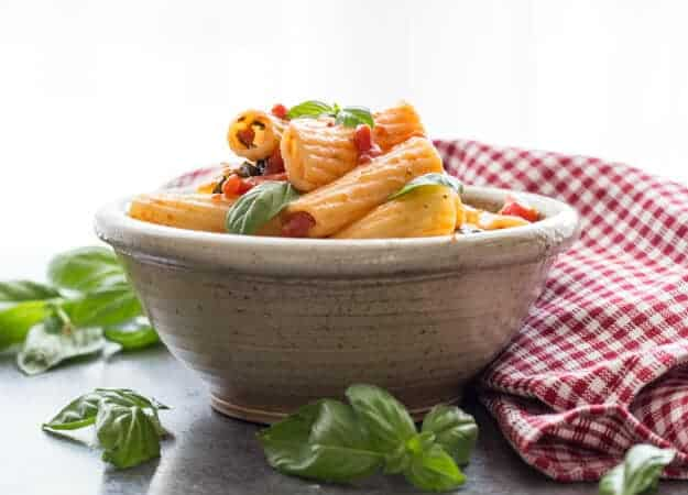 Lots of Fresh Basil Tomato Sauce - An Italian in my Kitchen