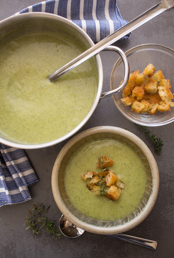 Three Vegetable Creamy Broccoli Soup