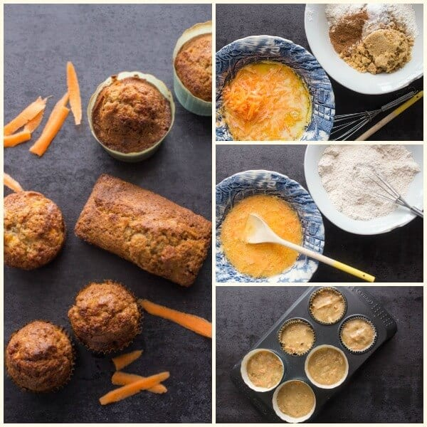 Easy Carrot Cake Muffins, the best, simple, fast breakfast, snack or dessert muffin, delicious with or without frosting or nuts.