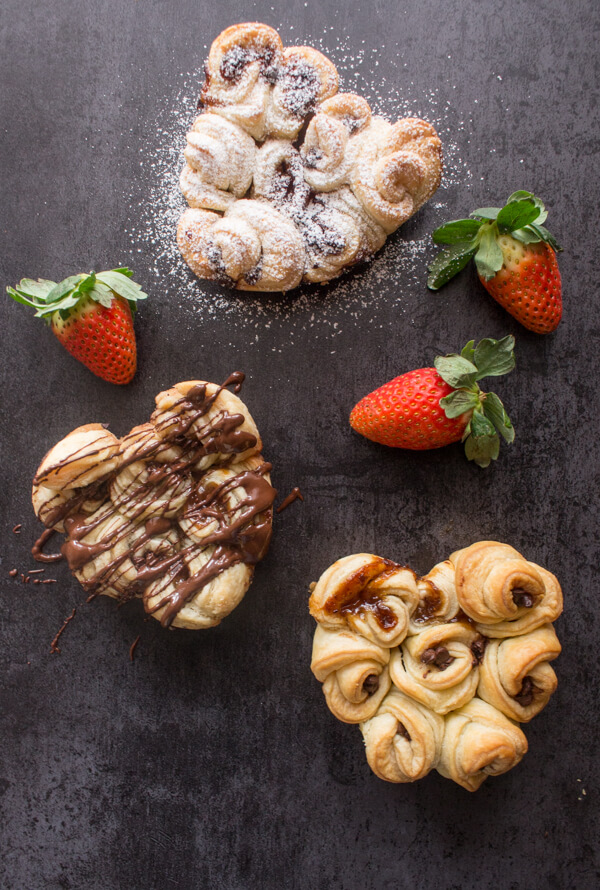 Easy Filled Puff Pastry Rose Hearts An Italian In My Kitchen