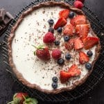 A fast and easy Chocolate Vanilla Berry Panna Cotta Tart. A delicious creamy, delicate Italian Dessert, a berry sauce makes it perfect.