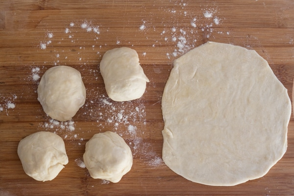 dough made for Piadina