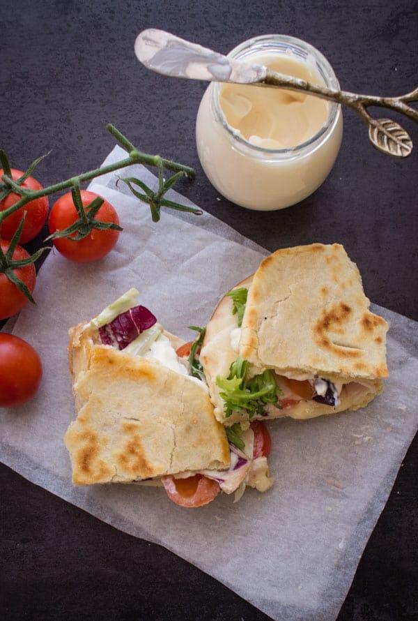 La Piadina- Italian Flatbread Sandwich, Breakfast, lunch or dinner, fast, easy & no yeast recipe. Fill it anyway.