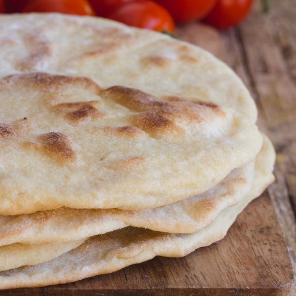piadina 4 Italian flat bread on a board