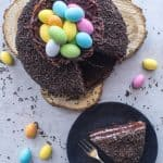 Chocolate Easter Egg Nest cake top view