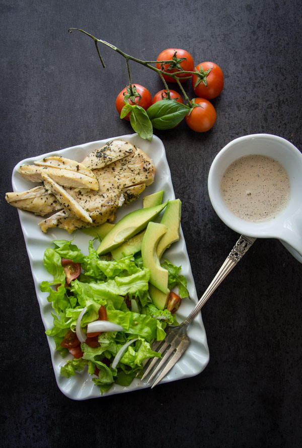 Homemade Creamy Italian Dressing With Grilled Chicken Salad An Italian In My Kitchen