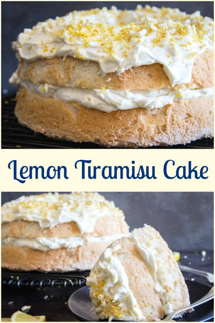 Lemon Tiramisu Cake, white chocolate, whipped cream and mascarpone make this no egg Tiramisu Cake Recipe perfectly delicious.  #cake #tiramisu #lemontiramisu #italianrecipe #dessert