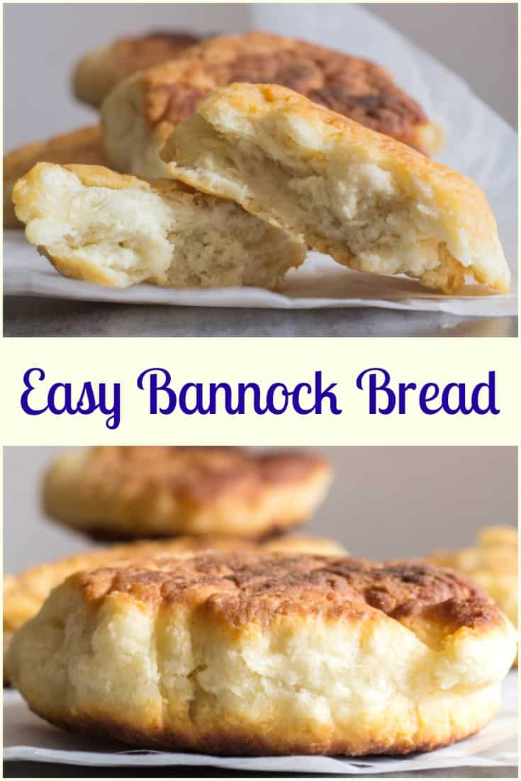 Easy Bannock Bread, a simple fried bread, fast and easy and so delicious, no yeast, the perfect camping, breakfast or side dish.