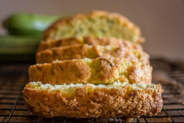 sliced zucchini bread.