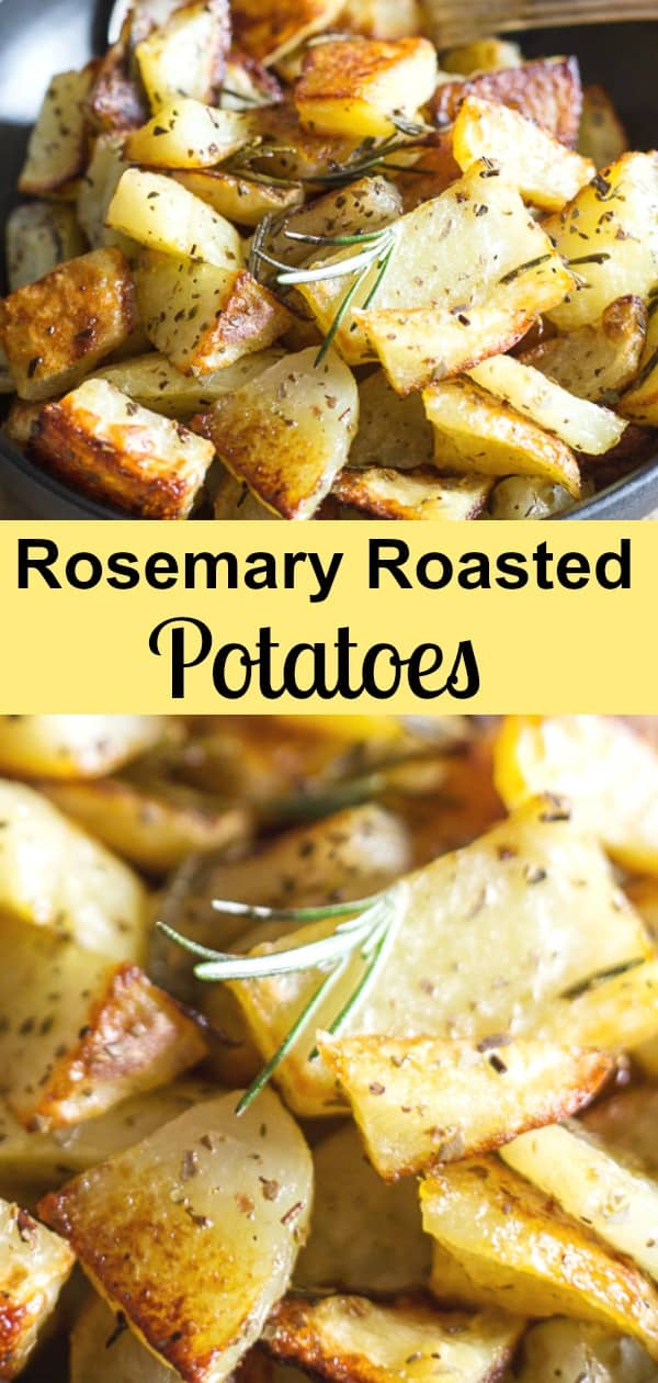 Rosemary Roasted Potatoes are a delicious and easy potato recipe. A few simple ingredients make these roasted the potatoes the best side dish you will taste.The perfect accompaniment for any main course. #side dish #potatoes #roastedpotatoes #rosemarypotatoes #Italianrecipe