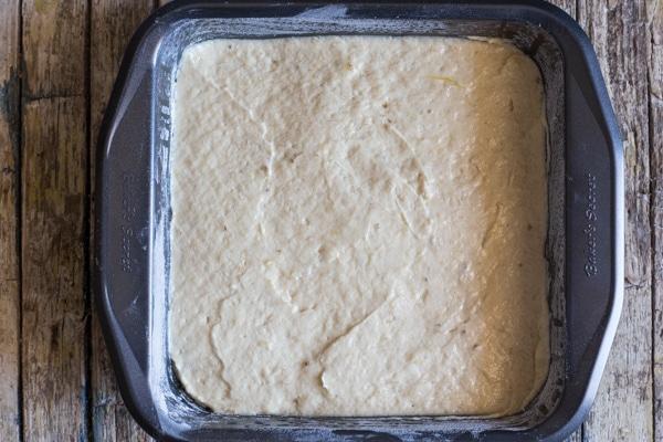 banana cake ready for baking