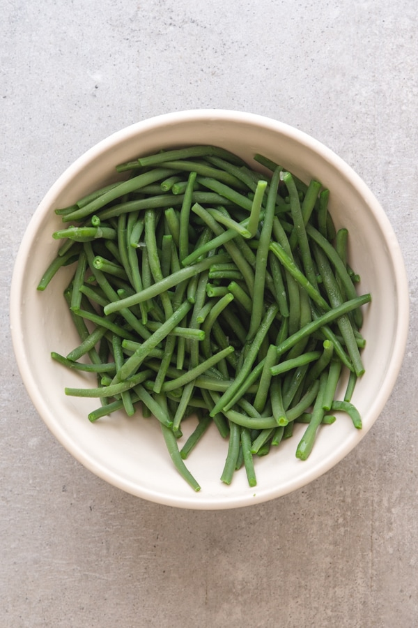 cleaned green beans