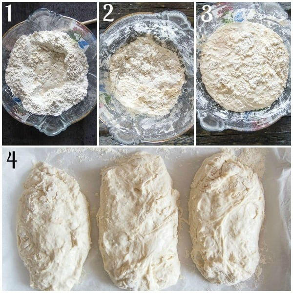 no knead bread how to make making the dough and forming the loaves