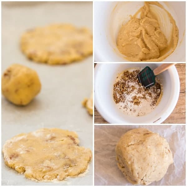 pecan cookies how to unbacked on a cookie sheet, dough