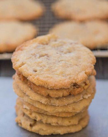 pecan cookies stacked