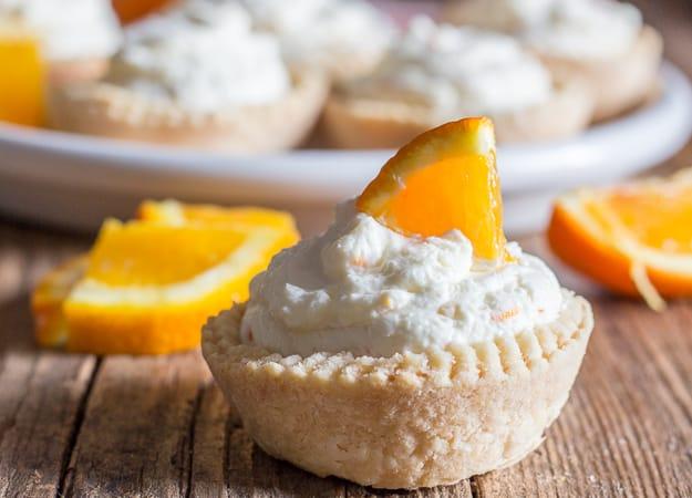 upclose orange cheesecake tart