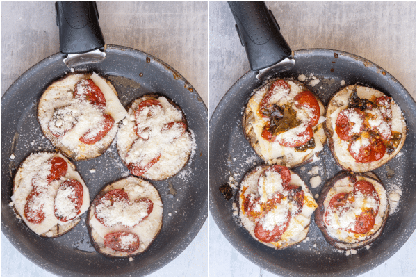how to make eggplant parmesan stacks ready for baking and baked