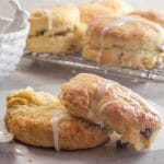 hot cross scone on a paper