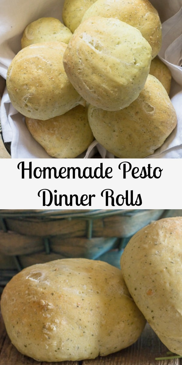 No more bland Dinner Rolls these soft homemade buns taste amazing, with a little help from some Pesto. Choose your favourite Pesto and make some Yummy Dinner Rolls. #dinnerrolls #buns #pesto #Italianrecipe #hamburgerbuns #yeastbuns #yeastbread #bread